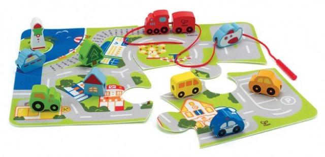 Hape Busy City Play Set