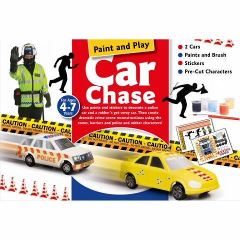 Paint and Play Car Chase